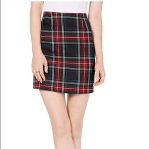 NWT.... love, fire plaid skirt